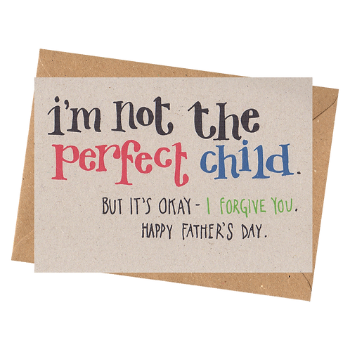sign & stamp service - father's day card - PERFECT CHILD