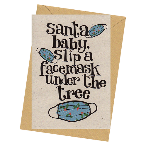 sign & stamp service - Christmas card- FACEMASK