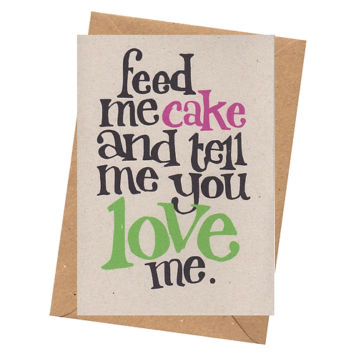 sign & stamp service - love, valentine, anniversary, any occasion card - FEED ME