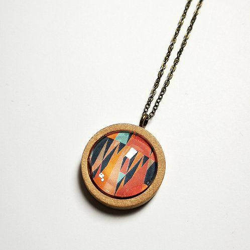 Geotropics Havana natural wood boho long necklace