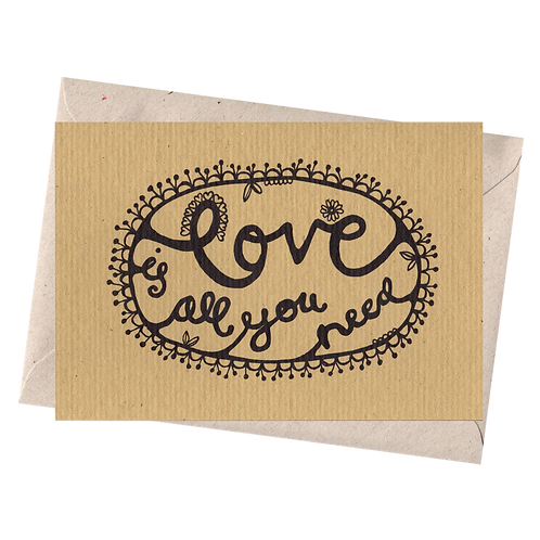 sign & stamp service - LOVE IS ALL YOU NEED