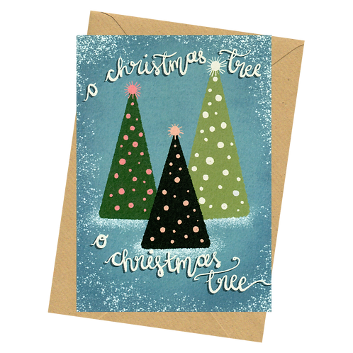 sign & stamp service - luxe Christmas card- O CHRISTMAS TREE