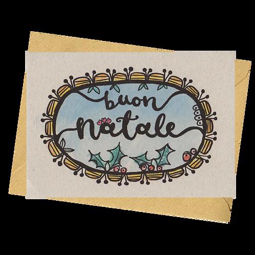 sign & stamp service - Italian Christmas card - BUON NATALE
