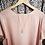 Thumbnail: Blue Lace natural wood boho long necklace