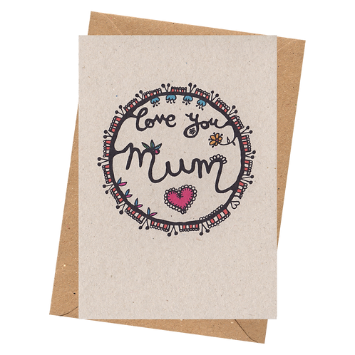sign & stamp service - mother's day, mum's birthday - LOVE YOU MUM