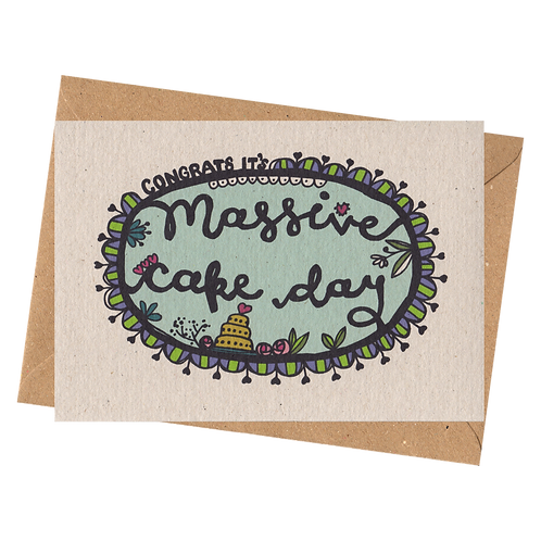 sign & stamp service - wedding card -MASSIVE CAKE DAY