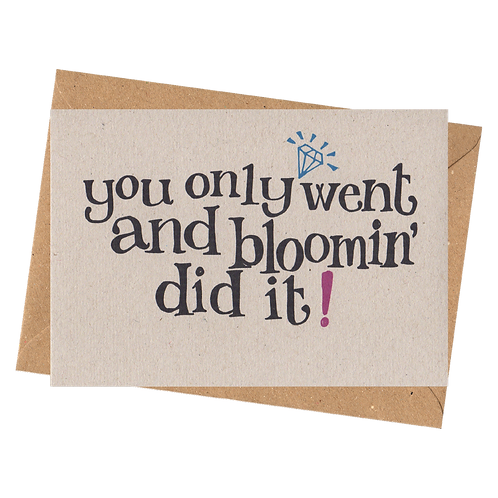 sign & stamp service - congratulations card, well done card - BLOOMIN DID IT