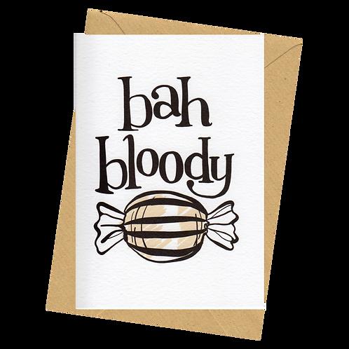 sign & stamp service - Christmas card - BAH BLOODY HUMBUG