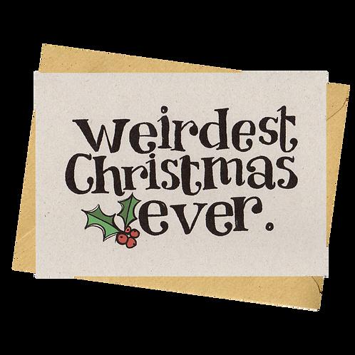 sign & stamp service - Christmas card- WEIRD CHRISTMAS