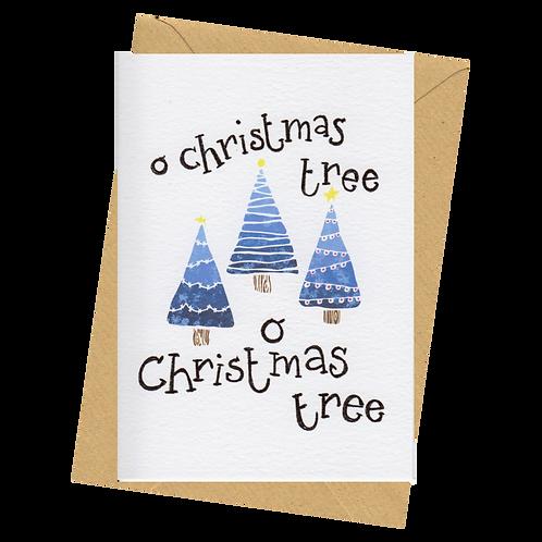 sign & stamp service - Christmas card - O CHRISTMAS TREE