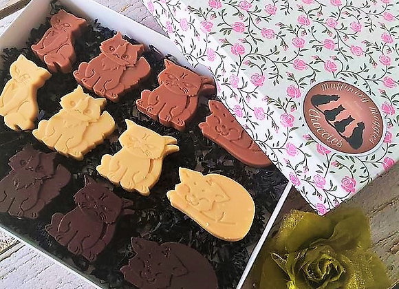 Moggies Choccies - Gift box (12 chocolates)