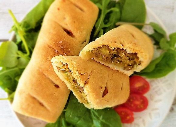 Jumbo sweet potato and avocado sausage rolls.  Pack of 2