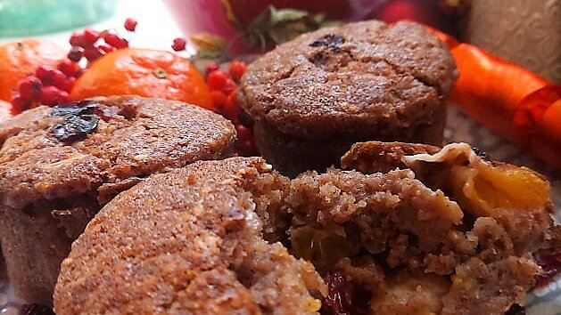 Wensleydale with cranberries, oranges and brandy. 4 large muffins