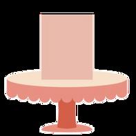 "MEDIUM CAKE 6""diameter x 6.5"" height (Serves 12-18) $115"