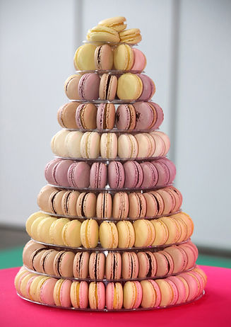 Traditional french colorful macarons in a tower .jpg
