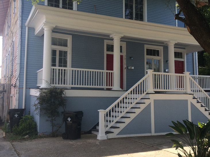 7820 Spruce red door on left