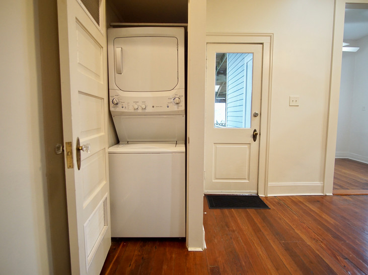 stack washer/dryer in unit