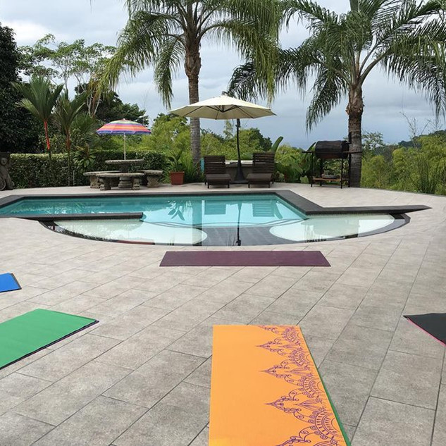 One of our private yoga spaces above Dominical, Costa Rica
