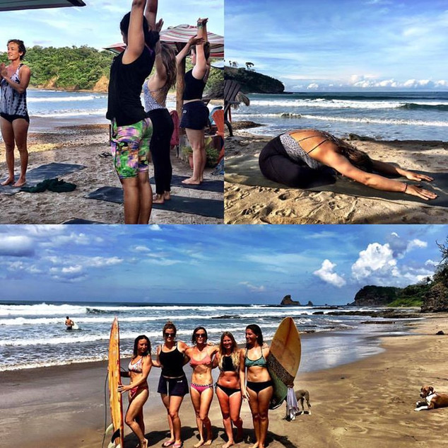 Yoga Class and Surf