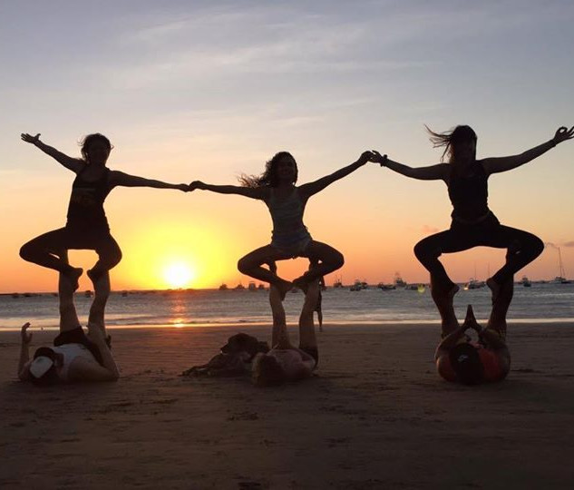 Karla with a Yoga Group in Nicaragua