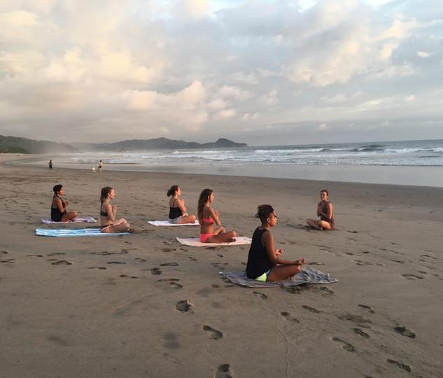 Karla teaching on retreat at Playa Colorado, Nicaragua