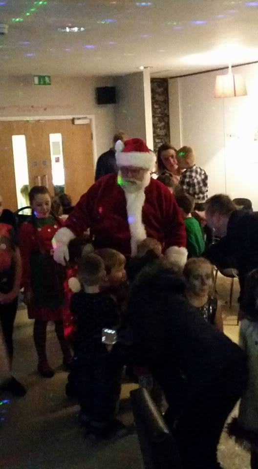 Father Christmas before entering the grotto 2015