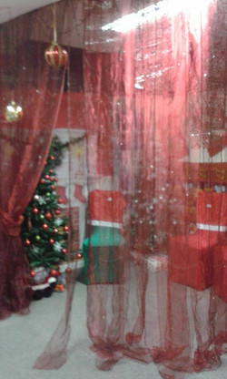 GROTTO  WAITING FOR SANTA AND HIS EL