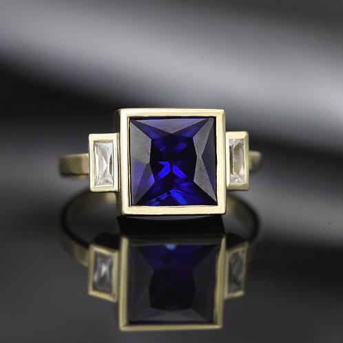 טבעת ספיר פרינסס 3.0 ct