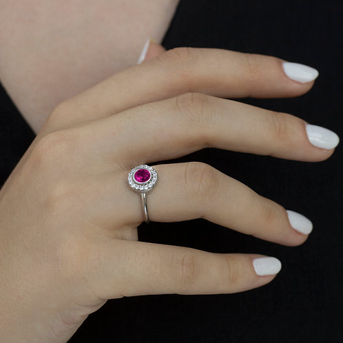 טבעת אטלנטיס רובי ויהלומים