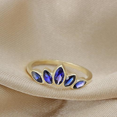 טבעת מרקיזה ספיר