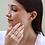 Thumbnail: עגילי ריבוע יהלומים עדין