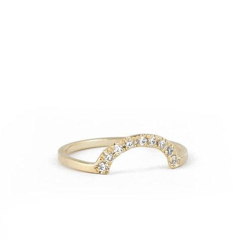 טבעת קשת יהלומים