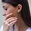 Thumbnail: עגילי מוסונייט עם הילת יהלומים