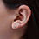 Thumbnail: עגילי פרח יהלומים