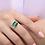 Thumbnail: טבעת אמרלד ומוסונייט לרוחב