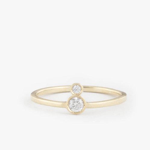 טבעת Duo יהלומים