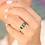 Thumbnail: טבעת 3 אמרלד ויהלומים