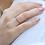 Thumbnail: טבעת נצח רובי-ספיר לבן
