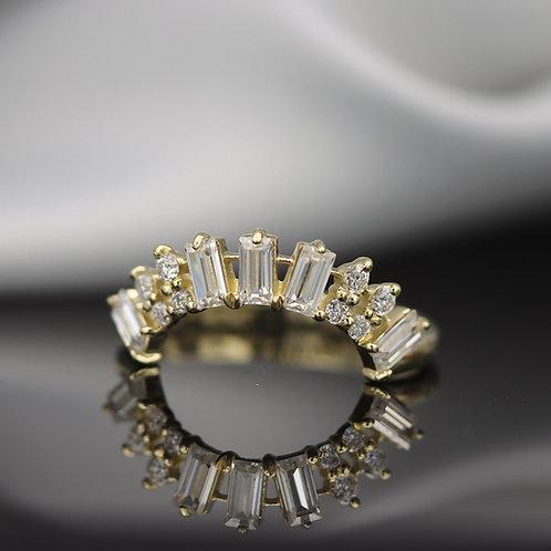 טבעת קשת מוסונייט 1.43ct