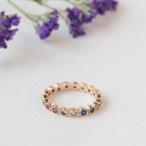טבעת נצח בשיבוץ עגול