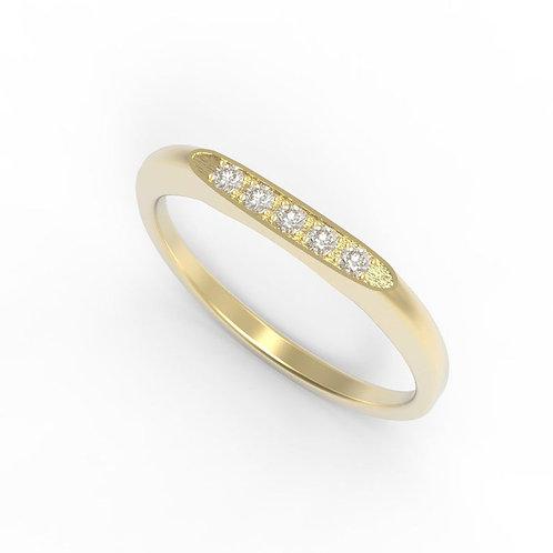 טבעת יהלומים בצורת מרקיזה