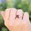 Thumbnail: טבעת רובי ומוסונייט