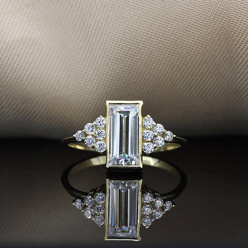 טבעת מוסונייט 1.72ct