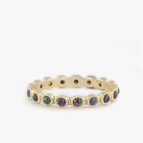 טבעת אופל שחור-אדום מקסיקני