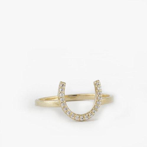 טבעת פרסה יהלומים