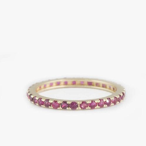 טבעת נצח רובי