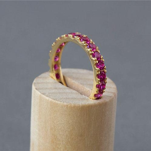 """טבעת נצח רובי 2.75 מ""""מ"""