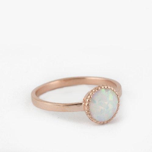 טבעת אופל לבן
