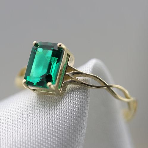 טבעת אמרלד קלטית 1.06 ct