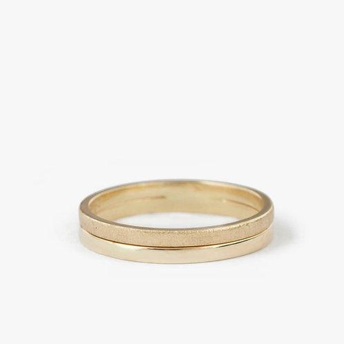 """טבעת נישואין """"גארדה"""" מזהב"""